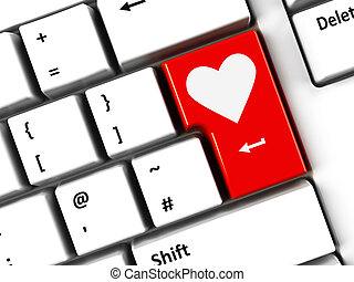 Computer keyboard love