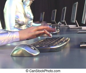 Computer keyboard. - Typing on a Keyboard.