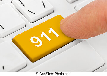 Computer keyboard with 911 key