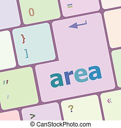 Computer keyboard with area word on it vector illustration