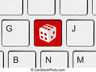 Computer keyboard with dice key
