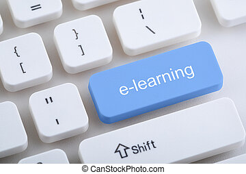 Computer keyboard with e-learning button