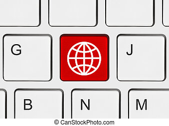 Computer keyboard with Globe key