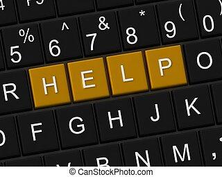keyboard with help key