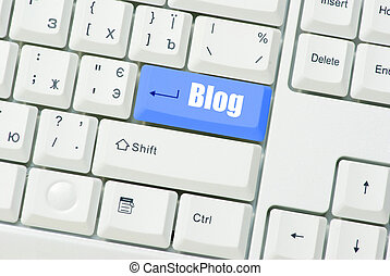 Blog - Computer keyboard with key Blog