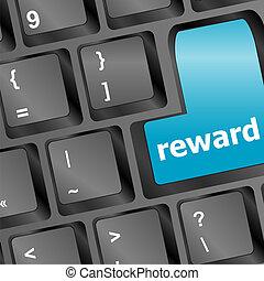 Computer keyboard with reward blue key