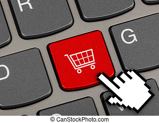 Computer keyboard with shopping key