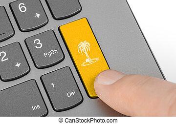 Computer keyboard with vacation key