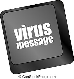 Computer keyboard with virus message key