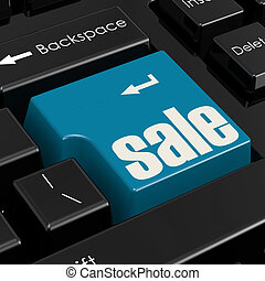 Computer keyboard with word sale button