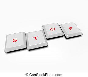 Computer Keys - Stop