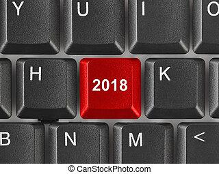 computer klaviatur, hos, 2018, nøgle