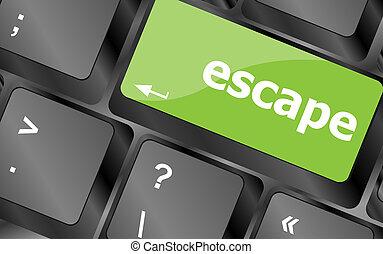 computer klaviatur, nøgle, hos, flugt, glose