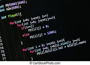 computer language source code
