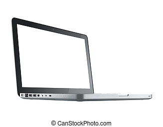 computer laptop isolated - computer laptop, isolated, blank...