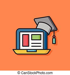 computer laptop vector icon