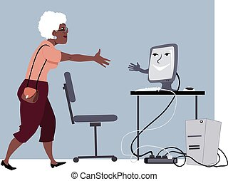 Computer lessons for seniors