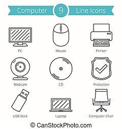 Computer Line Icons