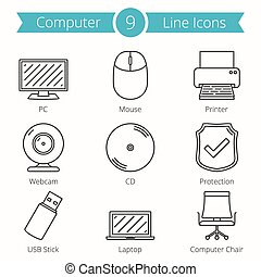 Computer Line Icons
