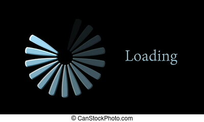 Computer loading icon on black