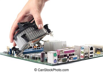Computer mainboard hardware and installation cpu fan