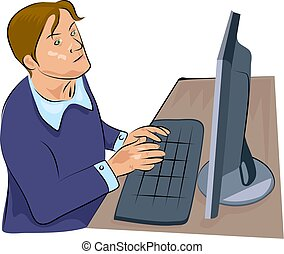 computer man - man working on a computer