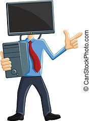 Computer Man Mascot