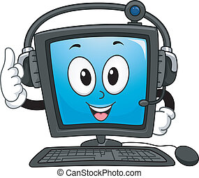 Computer Mascot - Mascot Illustration of a Computer Monitor ...