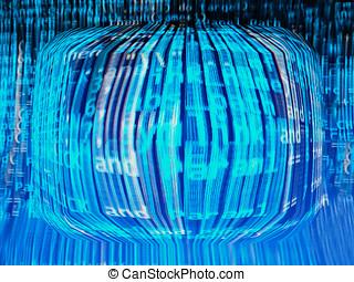 Computer matrix background