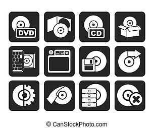 Computer Media and disk Icons