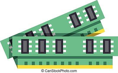Computer memory, RAM icon. Modern flat design graphic element. Vector illustration