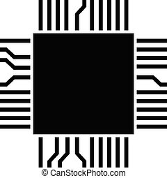 computer microchip (electronic component)