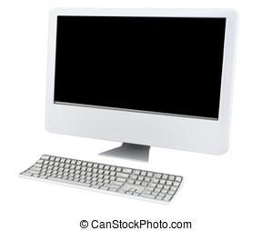 Computer Monitor and keyboard - Computer monitor screen and...