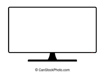 Computer Monitor Copy Space - A TV or computer screen with ...