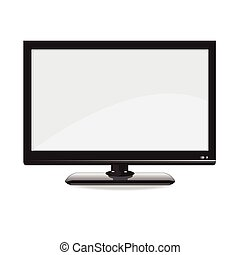 Computer monitor display isolated. Vector illustration.