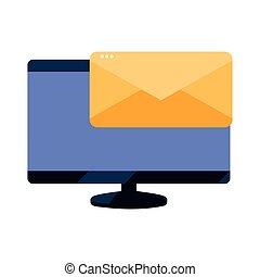 computer monitor email