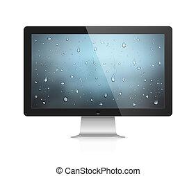 Computer monitor - Realistic vector illustration of computer...