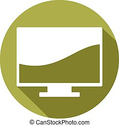 computer monitor flat icon