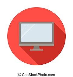 Computer monitor, flat style