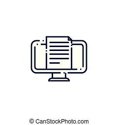 computer monitor flat style icon