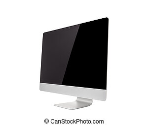 Computer Monitor, like mac with blank screen. Isolated on...