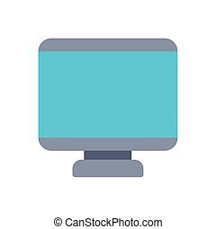 computer monitor office flat icon design