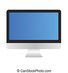Computer monitor with clipping path
