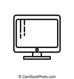 computer monitor vector illustration design