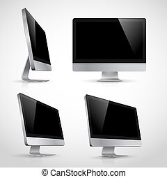 Computer monitor vector template