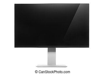 Computer Monitor with glossy screen and reflection.