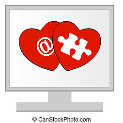 computer monitor with online dating
