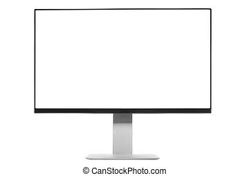 Computer Monitor with white screen