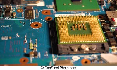 Computer motherboard and processor - Components of the...