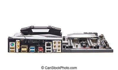 Computer Motherboard Back Side